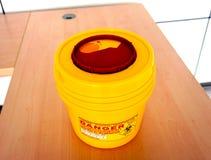 Επικίνδυνο εμπορευματοκιβώτιο για τα ραδιενεργά απόβλητα Στοκ Φωτογραφίες