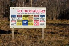 Επικίνδυνο εργοτάξιο - και το σημαίνουμε! Στοκ εικόνες με δικαίωμα ελεύθερης χρήσης