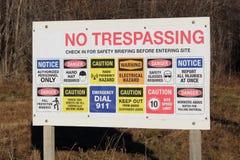 Επικίνδυνο εργοτάξιο - και το σημαίνουμε! Στοκ εικόνα με δικαίωμα ελεύθερης χρήσης
