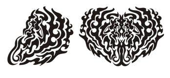 Επικίνδυνο φτερό και μαύρη καρδιά Στοκ εικόνα με δικαίωμα ελεύθερης χρήσης