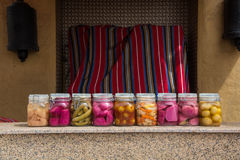 Επικασσιτερωμένα λαχανικά στο kitchen& x27 πίνακας του s Στοκ Φωτογραφία
