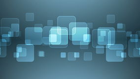 Επικαλύπτοντας τετράγωνα στο γκρίζο μπλε υπόβαθρο ελεύθερη απεικόνιση δικαιώματος