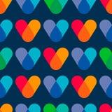 Επικαλύπτοντας χρώματα ζωηρόχρωμο πρότυπο άνευ ρα& Στοκ Εικόνες