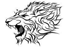 Επικεφαλής διανυσματικός γραφικός λιονταριών βρυχηθμού διανυσματική απεικόνιση