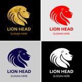 Επικεφαλής διανυσματικό λογότυπο βασιλιάδων λιονταριών Στοκ Εικόνες