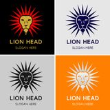 Επικεφαλής διανυσματικό λογότυπο βασιλιάδων λιονταριών Στοκ Φωτογραφία