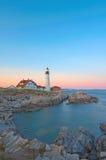 επικεφαλής εικονικό ελαφρύ μαγικό ηλιοβασίλεμα του Πόρτλαντ Στοκ Εικόνα