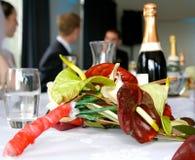 επικεφαλής επιτραπέζιος γάμος Στοκ Φωτογραφία