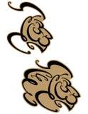 επικεφαλής λιοντάρι s διανυσματική απεικόνιση