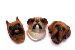 Επικεφαλής μαγνήτες ψυγείων σκυλιών στοκ φωτογραφία με δικαίωμα ελεύθερης χρήσης