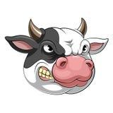 Επικεφαλής μασκότ μιας αγελάδας ελεύθερη απεικόνιση δικαιώματος