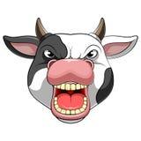 Επικεφαλής μασκότ χαρακτήρα μιας αγελάδας απεικόνιση αποθεμάτων
