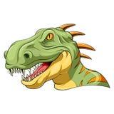 Επικεφαλής μασκότ Velociraptor διανυσματική απεικόνιση
