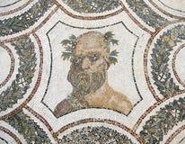 επικεφαλής μωσαϊκό Ρωμαίος bacchus Στοκ Φωτογραφία