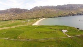 Επικεφαλής παραλία αποβαθρών Lenan και κοβάλτιο Donegal Ιρλανδία οχυρών στοκ εικόνα με δικαίωμα ελεύθερης χρήσης