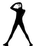 επικεφαλής σκέψη εκτελεστών μασκών χεριών mime Στοκ φωτογραφία με δικαίωμα ελεύθερης χρήσης