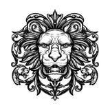 Επικεφαλής του λιονταριού Απομονωμένη διανυσματική απεικόνιση Στοκ Εικόνες