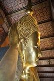 Επικεφαλής του χρυσού ξαπλώνοντας Βούδα στοκ φωτογραφία με δικαίωμα ελεύθερης χρήσης