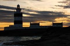 Επικεφαλής φάρος γάντζων Goye'xfornt Ιρλανδία Στοκ Εικόνες