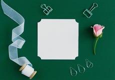 Επικεφαλίδα, πρότυπο σκηνής καρτών, τοπ άποψη, Στοκ εικόνες με δικαίωμα ελεύθερης χρήσης
