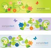 Επικεφαλίδες Ιστού με τα λουλούδια Στοκ φωτογραφία με δικαίωμα ελεύθερης χρήσης