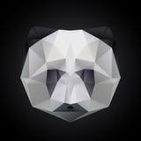 Επικεφαλής απομονωμένο πολύγωνο διάνυσμα της Panda Στοκ φωτογραφίες με δικαίωμα ελεύθερης χρήσης