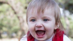 Επικεφαλής γέλιο μωρού απόθεμα βίντεο