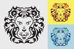 Επικεφαλής γραφικός λιονταριών Στοκ εικόνες με δικαίωμα ελεύθερης χρήσης