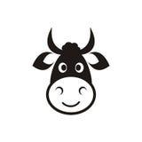 Επικεφαλής εικονίδιο αγελάδων Στοκ φωτογραφία με δικαίωμα ελεύθερης χρήσης