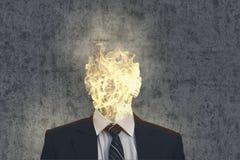 Επικεφαλής επιχειρησιακό άτομο πυρκαγιάς Στοκ Εικόνα