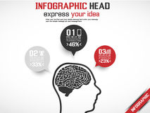 Επικεφαλής ιδέα Infographic Στοκ φωτογραφία με δικαίωμα ελεύθερης χρήσης