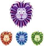 Επικεφαλής κινούμενα σχέδια λιονταριών απεικόνιση αποθεμάτων