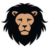 Επικεφαλής κινούμενα σχέδια μασκότ λιονταριών Στοκ Φωτογραφίες