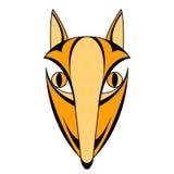 Επικεφαλής μάσκα προσώπου αλεπούδων συμμετρική Στοκ φωτογραφία με δικαίωμα ελεύθερης χρήσης