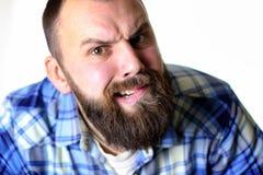 Επικεφαλής μορφασμός πορτρέτου ατόμων Στοκ φωτογραφία με δικαίωμα ελεύθερης χρήσης
