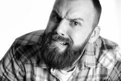 Επικεφαλής μορφασμός πορτρέτου ατόμων Στοκ Φωτογραφίες