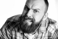 Επικεφαλής μορφασμός πορτρέτου ατόμων Στοκ Εικόνες