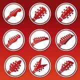 Επικεφαλής μουσική εικονιδίων αποθεμάτων κιθάρων Στοκ φωτογραφίες με δικαίωμα ελεύθερης χρήσης