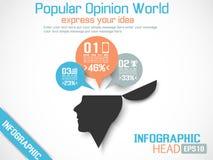 Επικεφαλής νέο ύφος Infographic Στοκ εικόνες με δικαίωμα ελεύθερης χρήσης