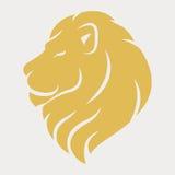 Επικεφαλής λογότυπο λιονταριών στοκ εικόνες