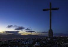 Επικεφαλής σταυρός γκαρίσματος Στοκ φωτογραφία με δικαίωμα ελεύθερης χρήσης