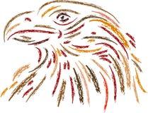 Επικεφαλής τέχνη γραμμών αετών Στοκ Εικόνες