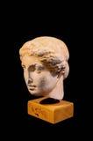 Επικεφαλής του αγάλματος αρχαίου Έλληνα που απομονώνεται Στοκ εικόνα με δικαίωμα ελεύθερης χρήσης