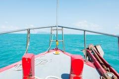Επικεφαλής του γύρου βαρκών στη θάλασσα Στοκ φωτογραφίες με δικαίωμα ελεύθερης χρήσης