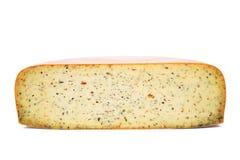 Επικεφαλής τυρί στο άσπρο υπόβαθρο Στοκ φωτογραφία με δικαίωμα ελεύθερης χρήσης