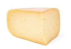 Επικεφαλής τυρί στο άσπρο υπόβαθρο Στοκ Φωτογραφίες