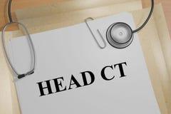 Επικεφαλής CT - ιατρική έννοια Στοκ εικόνες με δικαίωμα ελεύθερης χρήσης