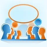 Επικοινωνία ανθρώπων και κοινωνική τέχνη έννοιας μέσων. διανυσματική απεικόνιση