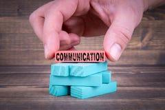 Επικοινωνία, αφηρημένη επιχείρηση και κοινωνική έννοια μέσων στοκ εικόνα με δικαίωμα ελεύθερης χρήσης