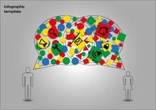 Επικοινωνία γένους Infographic Στοκ εικόνες με δικαίωμα ελεύθερης χρήσης